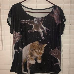 Tops - Space cats shirt